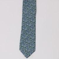 עניבה משי מודפס כתמים עשירה