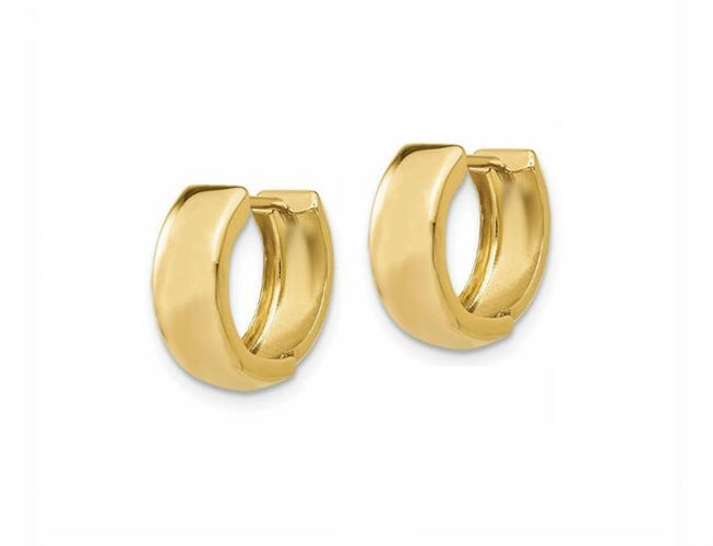 """חישוק זהב רחבים חלקים קטנים 1.3 ס""""מ"""