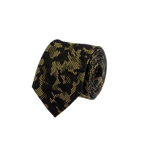עניבה מנומרת צהוב- שחור
