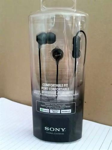 אוזניות ספורט מקצועיות מקוריות Sony MDR-EX15 שחורות