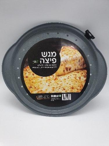 """תבנית פיצה אפורה 33X30 ס""""מ"""
