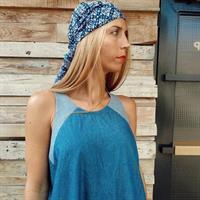 שמלת שיר מקסי - כחול בהיר
