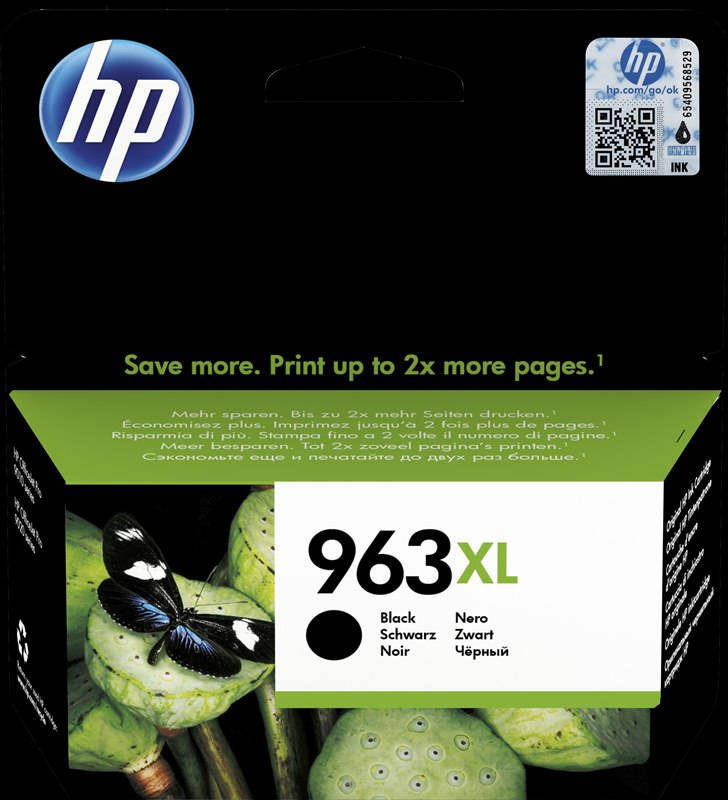 ראש דיו שחור מקורי HP 963XL