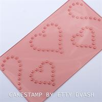 HEARTS DOTS TEXTURE MAT | CAKE DECORATING HEARTS DOTS | HEARTS DOTS FONDANT PATTERN