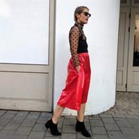 חצאית מניילון יפני - אדומה
