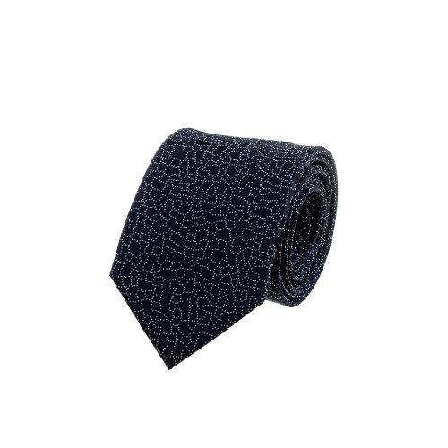 עניבה משורטטת כחול כהה