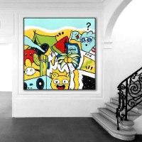 ציור גרפיטי לעיצוב הבית של האמן כפיר תג'ר