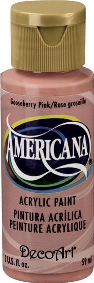 """צבע אמריקנה 59 מ""""ל Gooseberry Pink DAO27"""