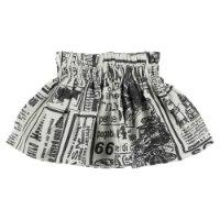 חצאית עיתון MISS KIDS שחור/לבן - 2-14