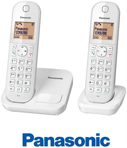 Panasonic טלפון אלחוטי + שלוחה אחת דגם KX-TGC412MBW
