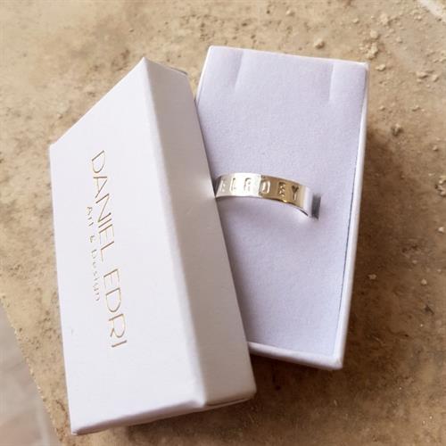 טבעת פס חריטה עמוקה