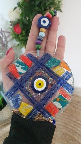 עין זכוכית מעוטרת דגם 2