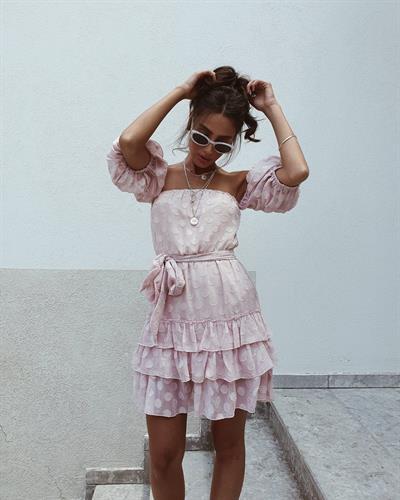 שמלת לילי קומות - ורודה