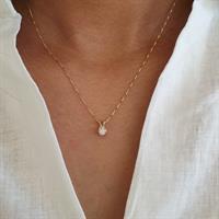 שרשרת יהלום │ תליון יהלום 0.20 קראט │ שרשרת ותליון יהלום │ שרשרת יהלום לאישה