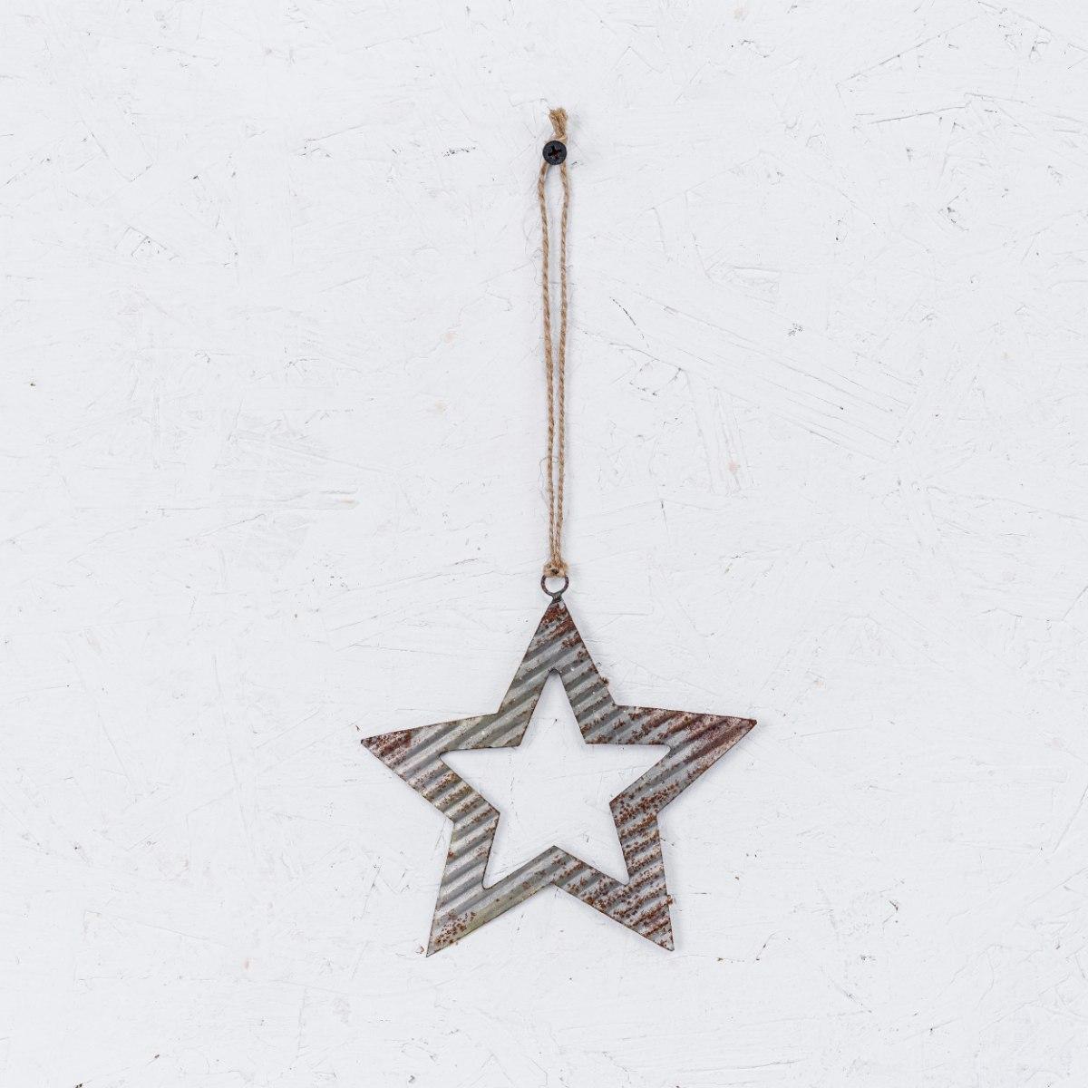 כוכב פח גלי - כסוף ראסטי