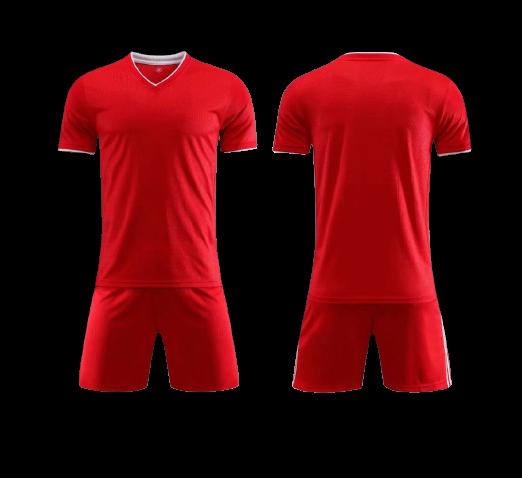 תלבושת כדורגל אדומה דמוי ליברפול (לוגו+ספונסר שלכם)