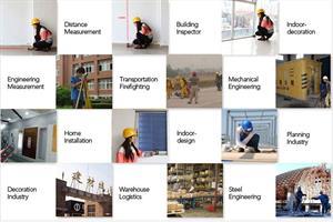 מד מרחק לייזר (מטר) דיגיטלי של חברת SNDWAY מקצועי לטווח של עד 40 מטרים