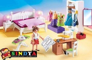 פליימוביל בית בובות חדר שינה הורים ופינת תפירה 70208