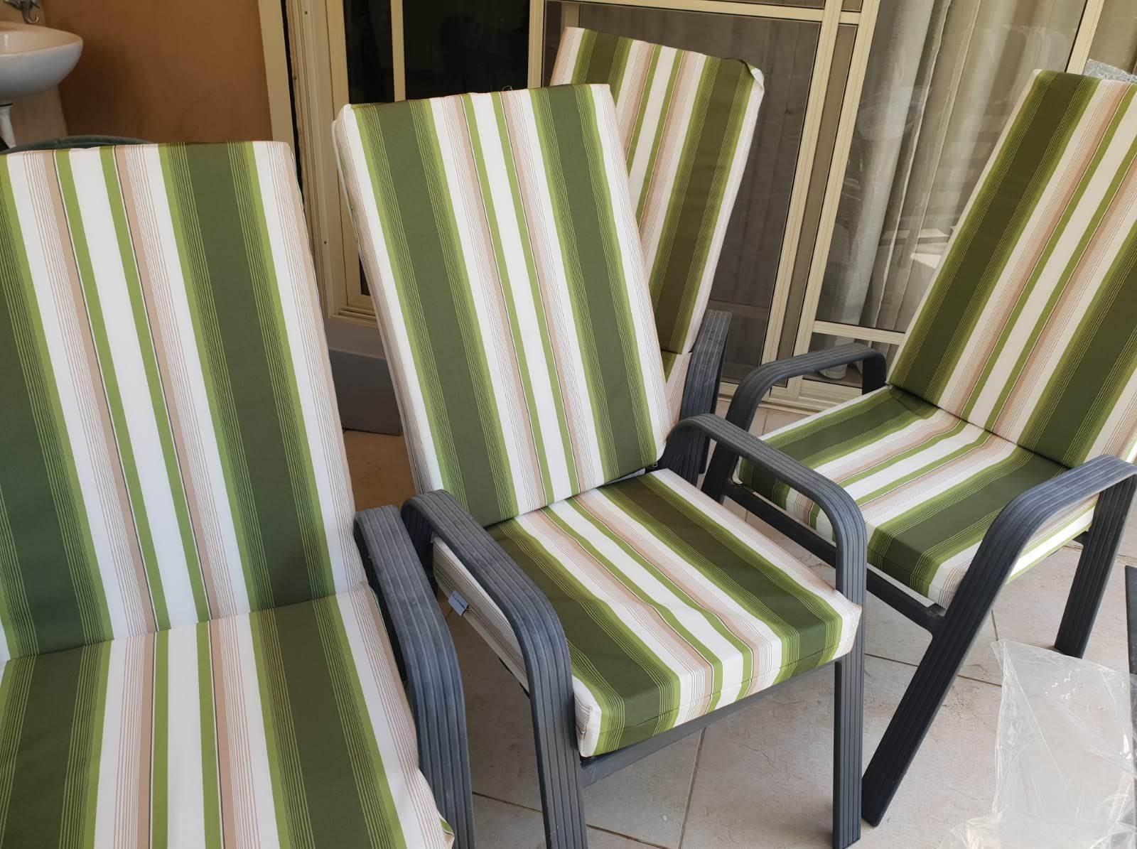 סט 4 ריפוד כיסאות גן