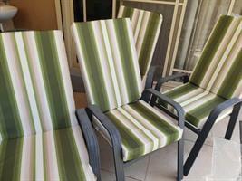 סט 6 מזרנים לכיסאות גן