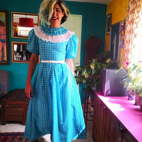 שמלת מקסי הוט קוטורית יפהפייה מידה S