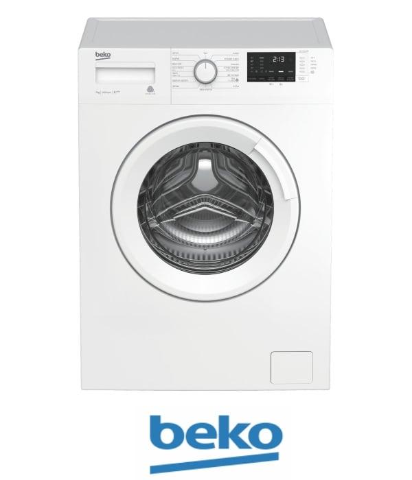 """beko מכונת כביסה 7 ק""""ג 1000 סל""""ד דגם: WTV-7512BW"""