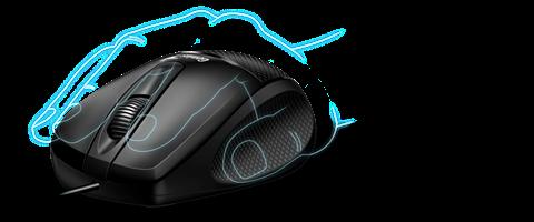 עכבר חוטי ארגונומי למחשב נייד Genius DX-150X בצבע שחור