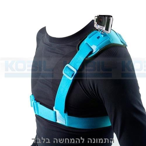 רצועת כתף למצלמת גו פרו רצועה לכתף GoPro Hero בצבע כחול מבית NEOPINE