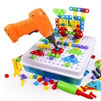 משחק הברגה לילדים הערכה המלאה 193 חלקים