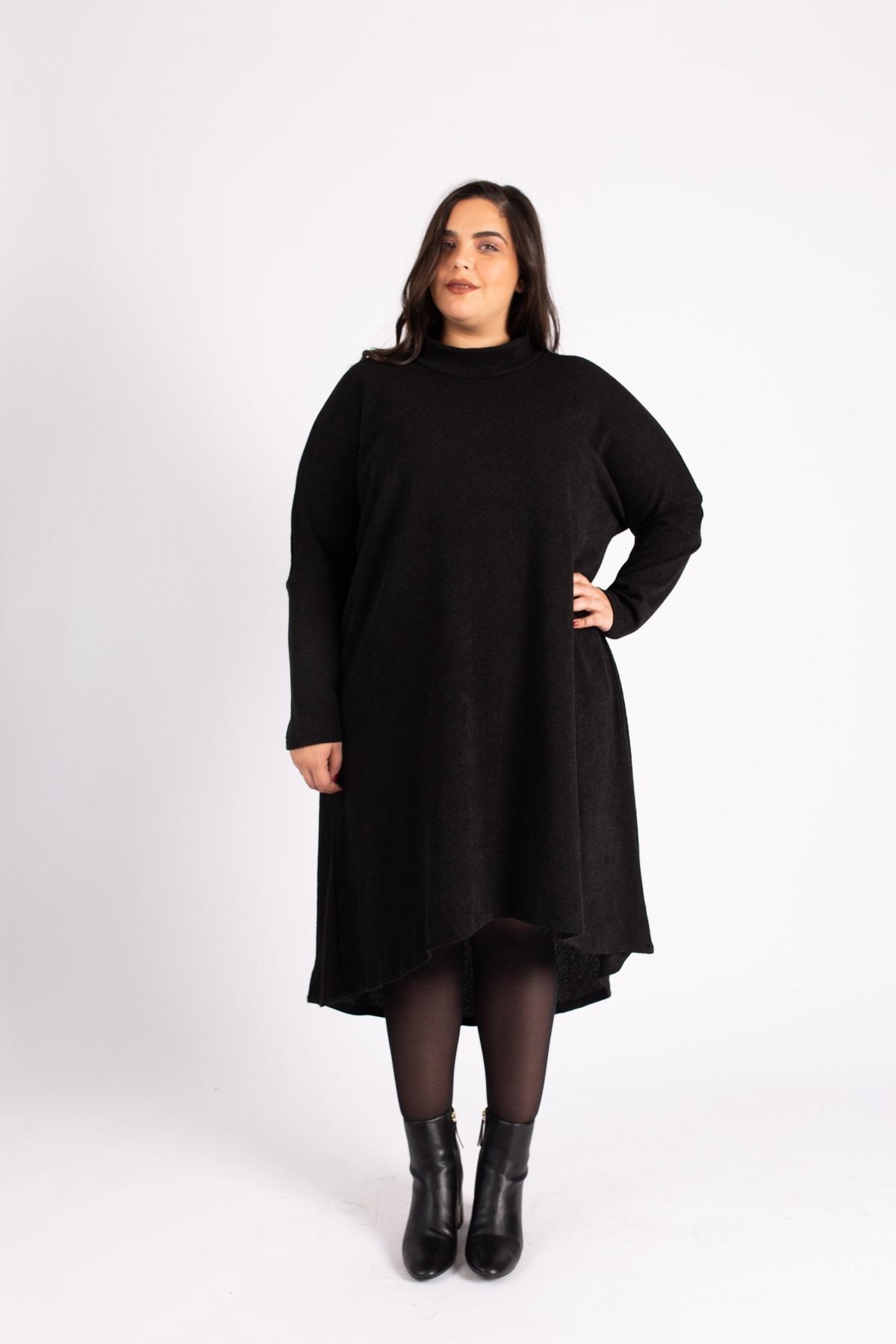 שמלת גלי גולף שחור