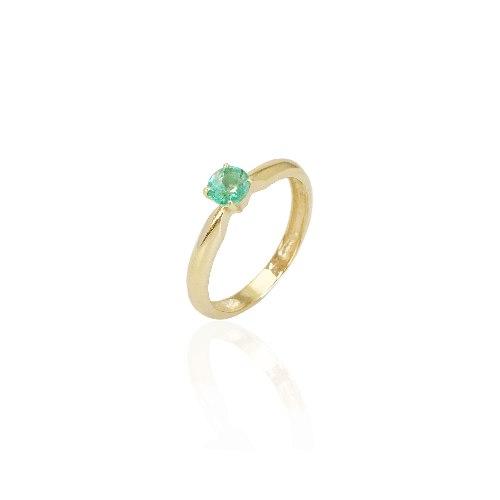 טבעת זהב אמרלד 0.35 קראט