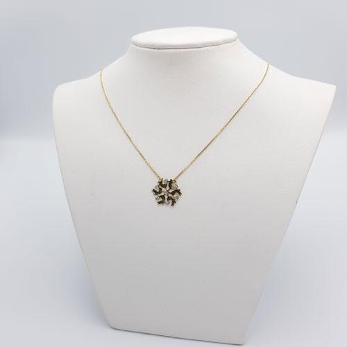 שרשרת זהב תליון פרח