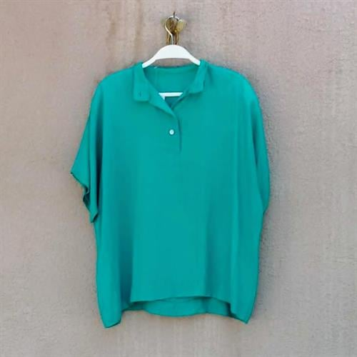 חולצת טורקיז משנות ה-80 מידה M/L