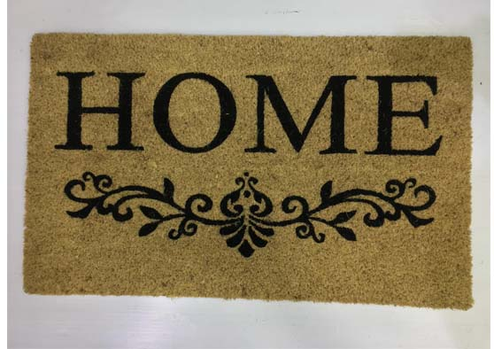 """שטיח כניסה לבית 74X45 ס""""מ- HOME"""