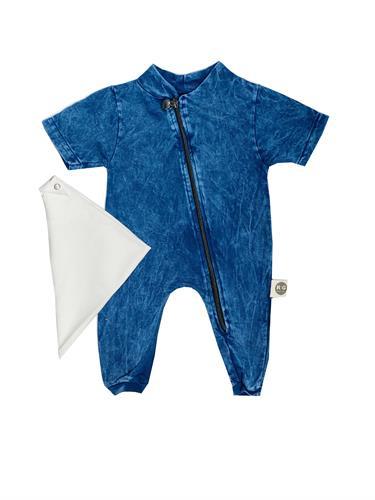 אוברול רוכסן ג'ינס כחול ORO
