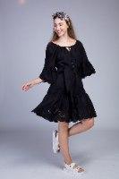 שמלה מידי בשילוב תחרה עדינה