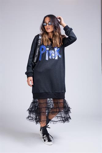 שמלה מקסי בשילוב טול