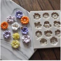 תבנית פרחים לעיצוב עוגה