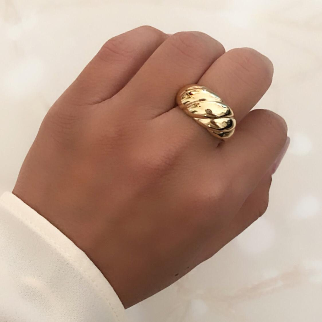 טבעת צמה פתוחה גולדפילד