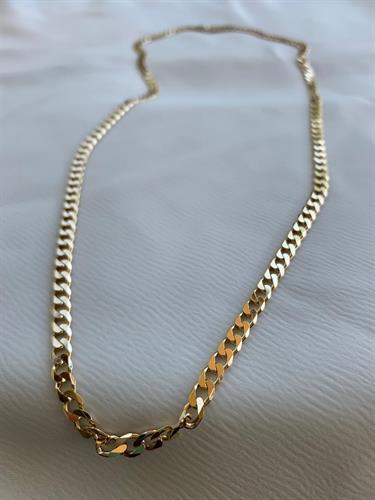 שרשרת גורמט פנצ'ר זהב ארוכה S