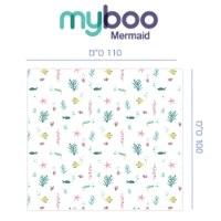 מבצע כרית הריון והנקה MoonLove + סט שמיכת צילום ושמיכת עיטוף במבוק אורגני MyBoo דגם Mermaid