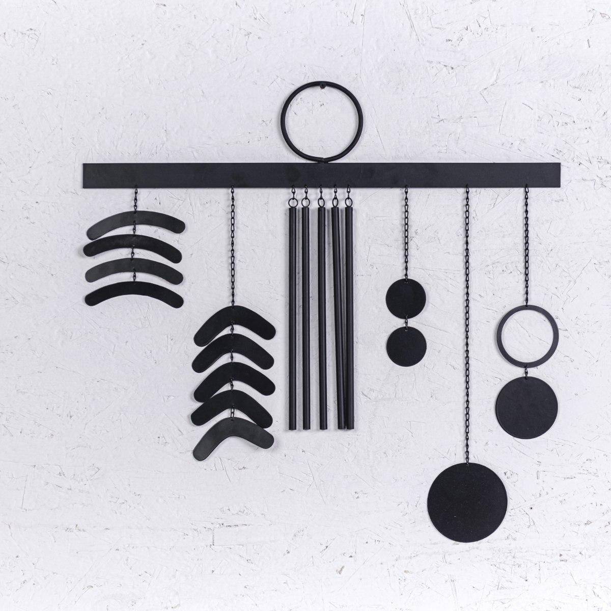 קישוט מתכת לקיר - ששת האלמנטים (שחור)