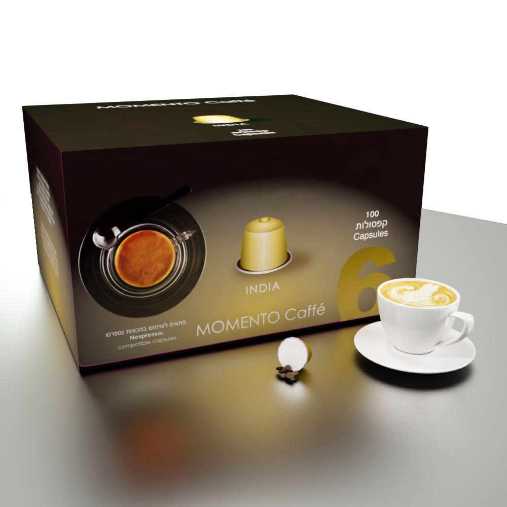 Espressomor אינדיה תואם נספרסו 100 יחידות