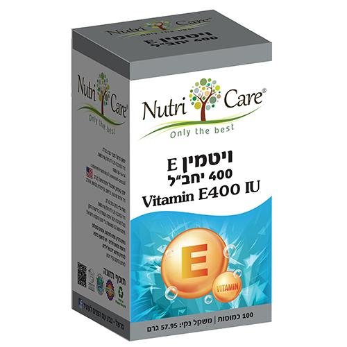 ויטמין E400, מכיל 100 כמוסות,  נוטרי קר