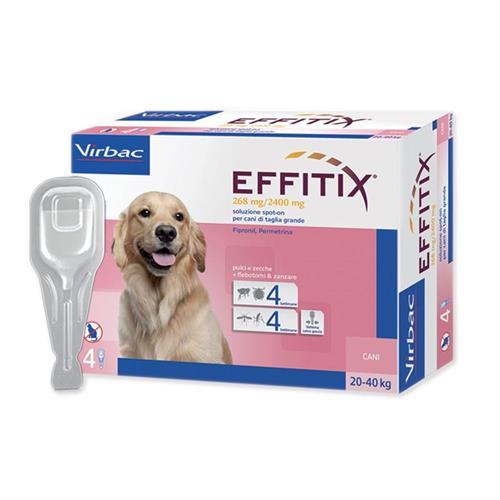 """אפיטיקס טיפות להדברת פרעושים וקרציות בכלבים 20-40 ק""""ג  Virbac Effitix"""