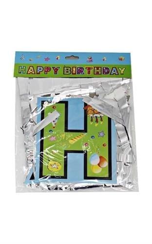 שרשרת Happy Birthday בשילוב פרנזים כסף