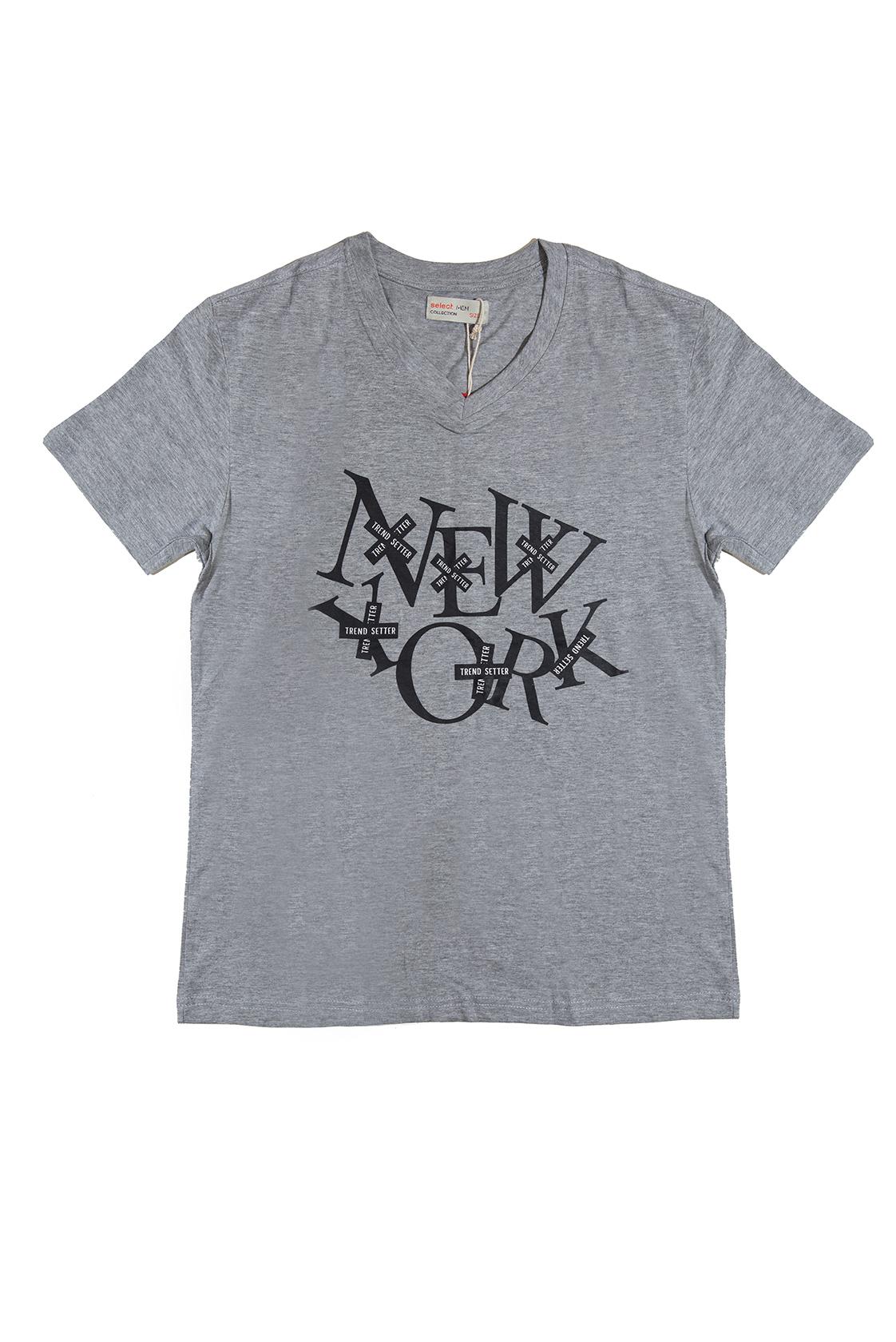 חולצת NEW YORK אפורה