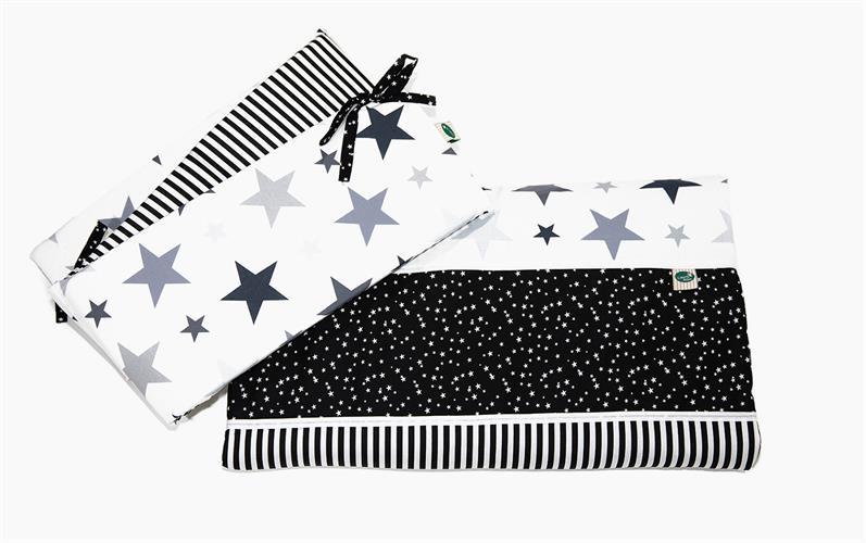 מגן לעריסה שחור כוכבים