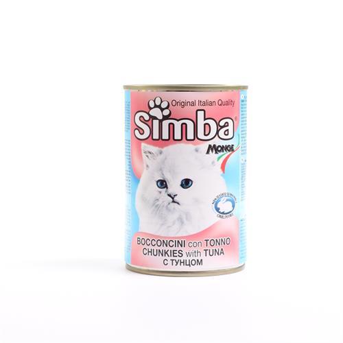 שימורי סימבה עם טונה לחתול 415 גרם