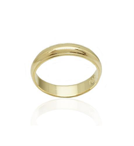 טבעת זהב נישואין 14 קרט מהממת ועדינה